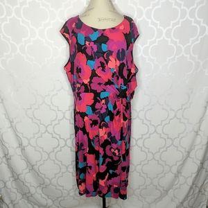 Dana Buchman Floral Knit Twist Dress